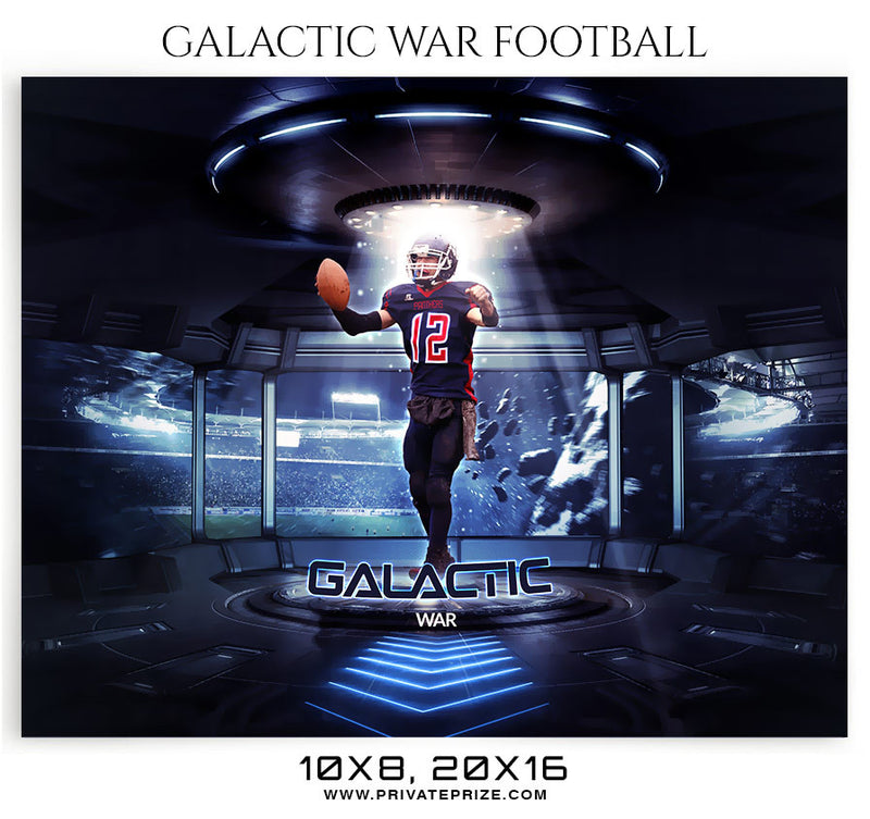 Galactic War -Football- Themed Sports Photography Template - Photography Photoshop Template