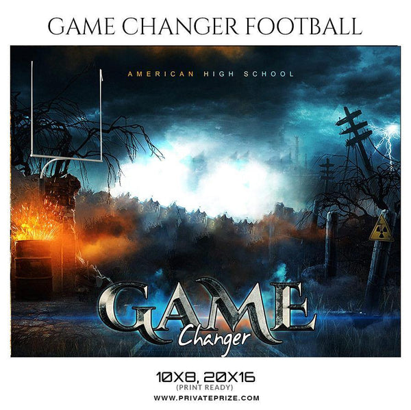 Game Changers - Football Themed Sports Photography Template