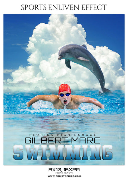 GILBERT MARC SWIMMING - SPORTS ENLIVEN EFFECT - Photography Photoshop Template