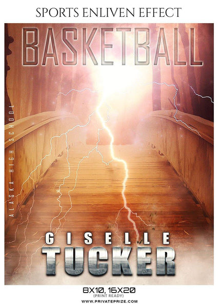 Giselle Tucker - Basketball Sports Enliven Effects Photography Template