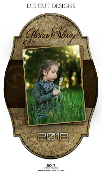 GLEEN SHAY -DIE CUT DESIGN - Photography Photoshop Template