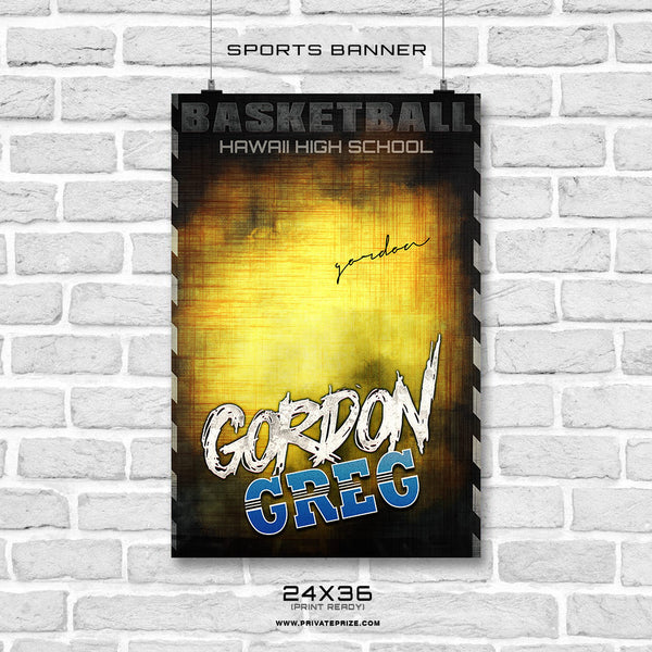 Gordon Greg Basketball Sports Banner Photoshop Template - Photography Photoshop Template