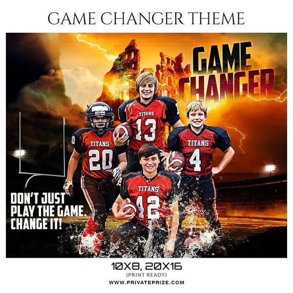 Game Changer - Football Themed Sports Photography Template