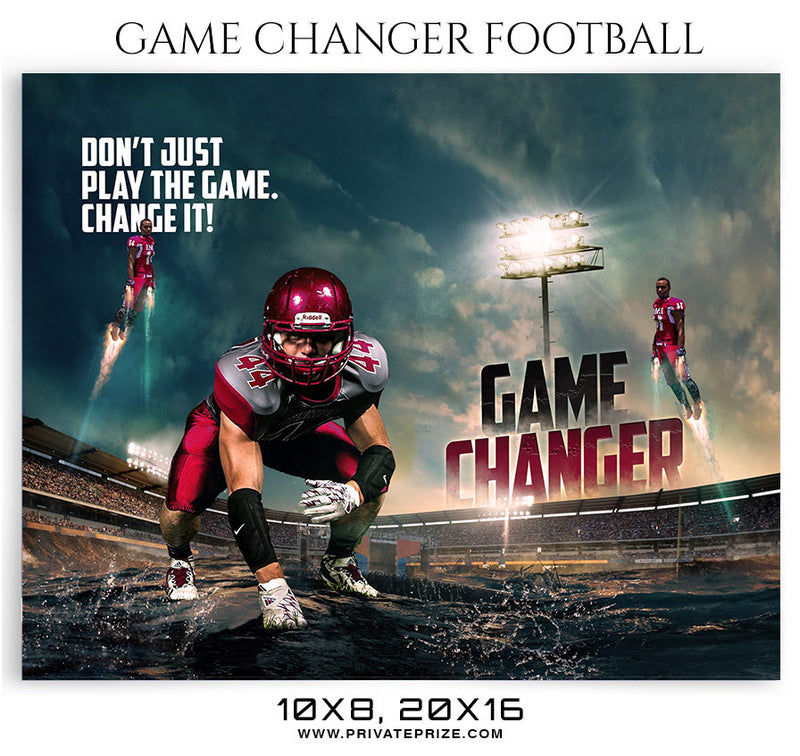 Game-Changer-Football Themed Sports Photography Template - Photography Photoshop Template