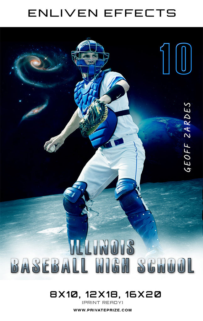 Geoff Illinois Baseball High School - Enliven Effects - Photography Photoshop Templates