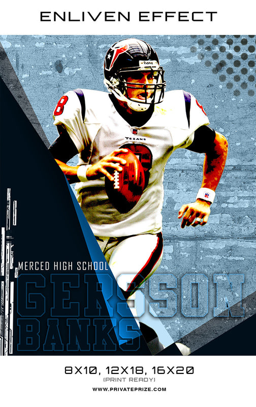 Gersson Banks Football High School Sports - Enliven Effects - Photography Photoshop Templates