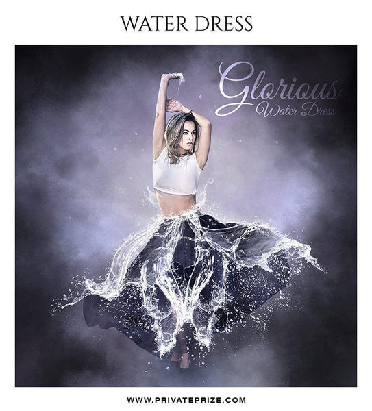 Glorious - Water dress overlays and Brushes - Photography Photoshop Template