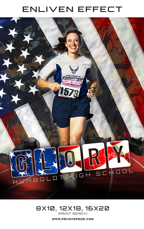 Glory Hombolot High School Running Sports -  Enliven Effects - Photography Photoshop Template