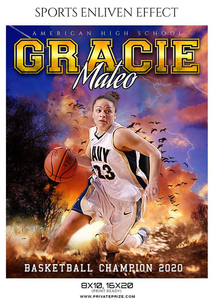 Gracis Mateo - Basketball Sports Enliven Effect Photography Template