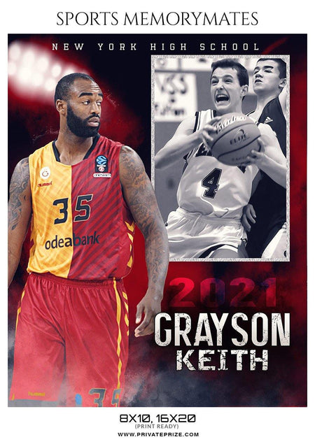 Grayson Keith - Basketball Memory Mate Photoshop Template