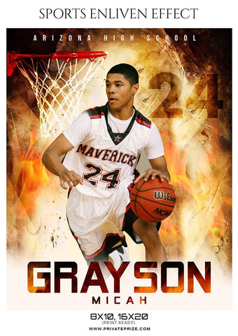 Grayson Micah - Basketball Sports Enliven Effect Photography Template