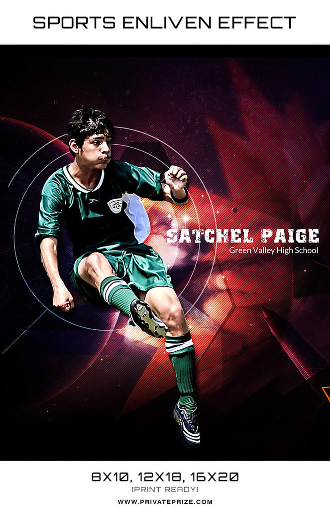 Green Valley Soccer High School Sports - Enliven Effects - Photography Photoshop Templates