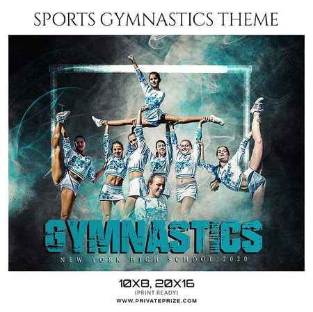 GYMNASTICS THEMED SPORTS PHOTOGRAPHY TEMPLATE - Photography Photoshop Template