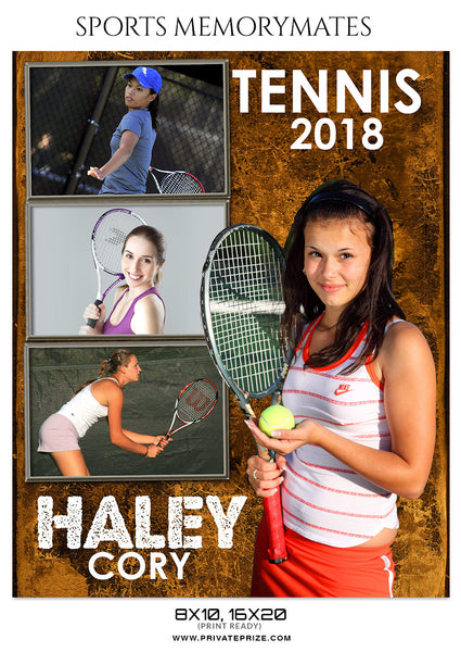 HALEYCORY - TENNIS - SPORTS ENLIVEN EFFECT - Photography Photoshop Template