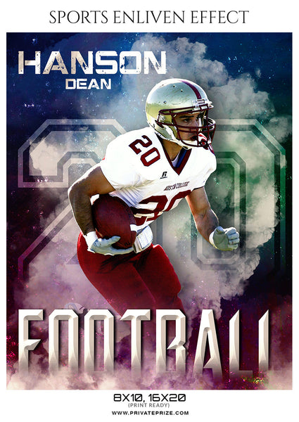 Hanson Dean - Football Sports Enliven Effect Photography Template - Photography Photoshop Template