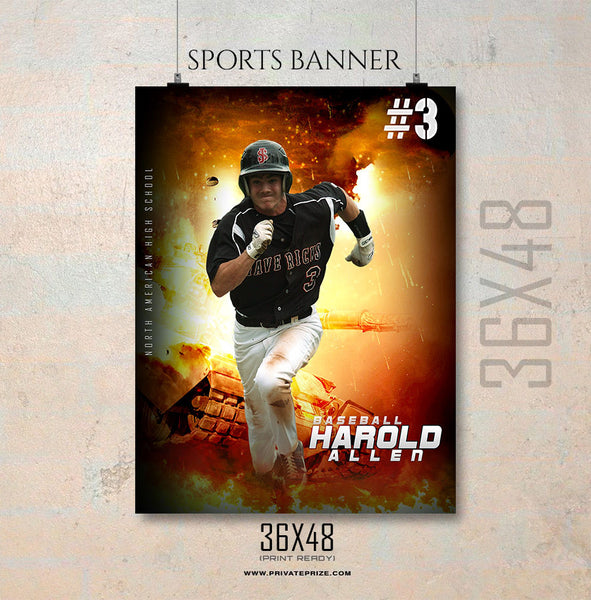 Harold Allen-Baseball-Enliven Effects Sports Banner Photoshop Template