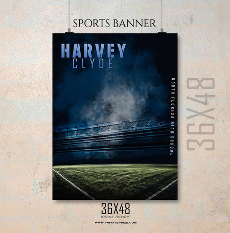 Harvey Cylde-Soccer Enliven Effects Sports Banner Photoshop Template - Photography Photoshop Template