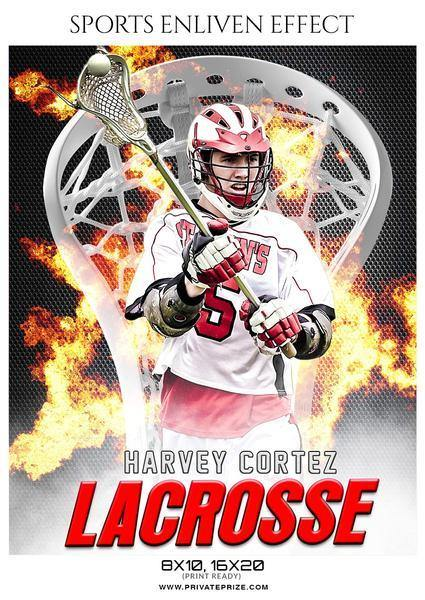 January - Lacrosse Bundle Photography Photoshop Template - Photography Photoshop Template