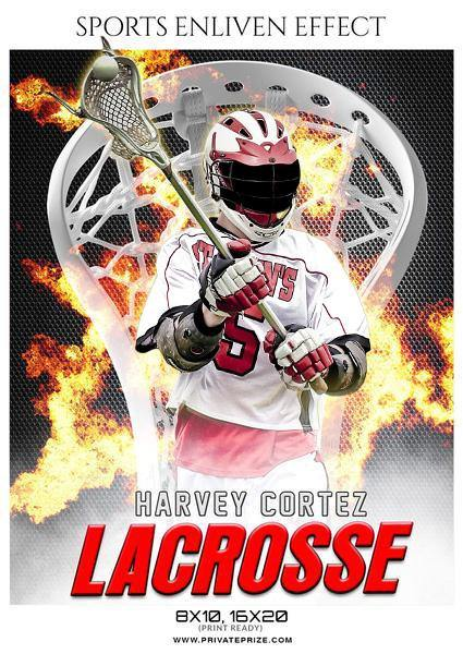 Harvey Cortez  - Lacrosse Sports Enliven Effects Photography Template