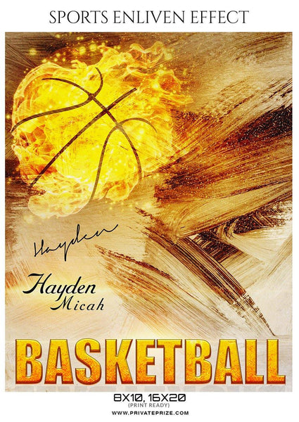 Hayden Micah - Basketball Sports Enliven Effect Photography Template