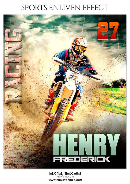 HENRY FREDERICK BIKE RACING -ENLIVEN EFFECTS