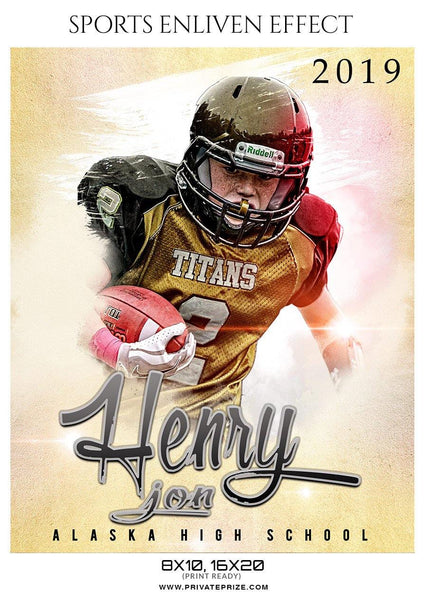 Henry Jon - Football Sports Enliven Effects Photography Template