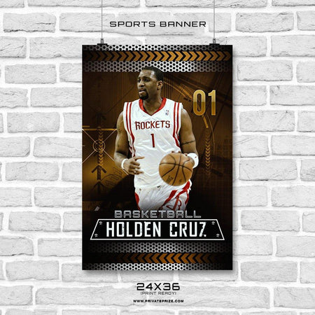 Holden Cruz - Basketball Enliven Effects Sports Banner Photoshop Template - Photography Photoshop Template