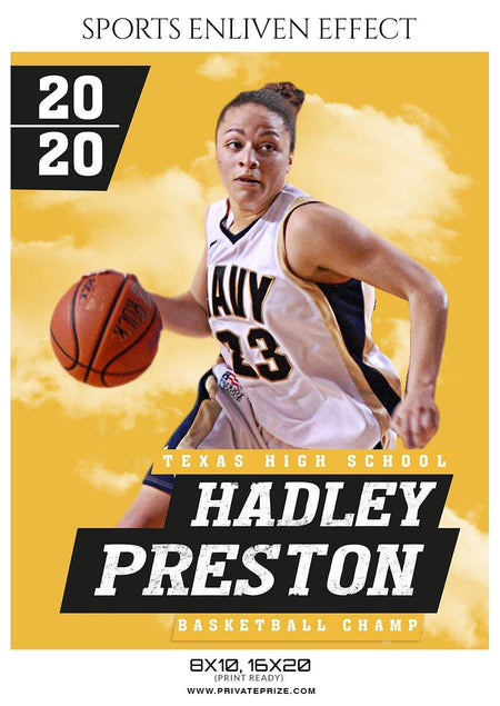 Hadley Preston - Basketball Sports Enliven Effect Photography Template