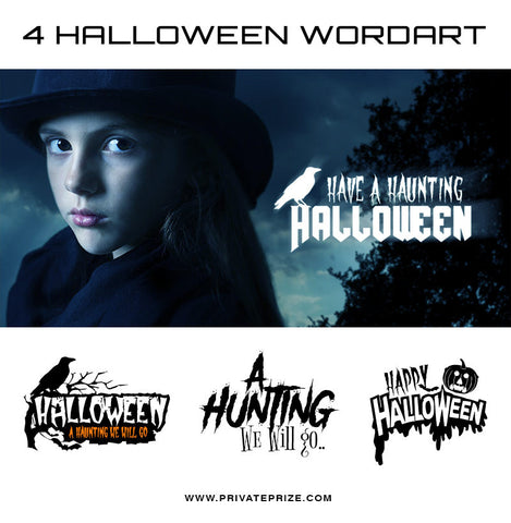 Halloween Word Art Set 1 - Photography Photoshop Templates