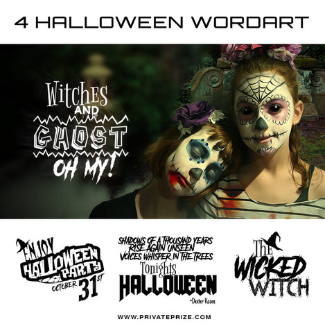 Halloween Word Art Set 2 - Photography Photoshop Templates