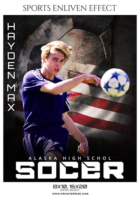 Hayden Max - Soccer Sports Enliven Effect Photography Template