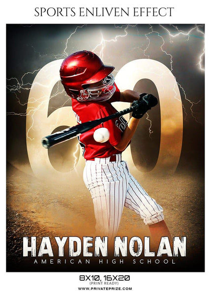 Hayden Nolan - Baseball Sports Enliven Effect Photography Template