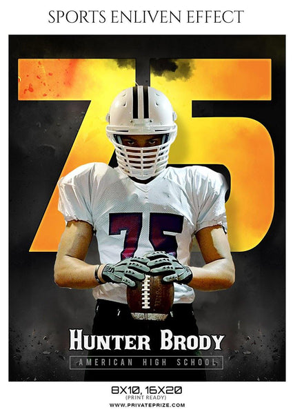 Hunter Brody - Football Sports Enliven Effect Photography Template