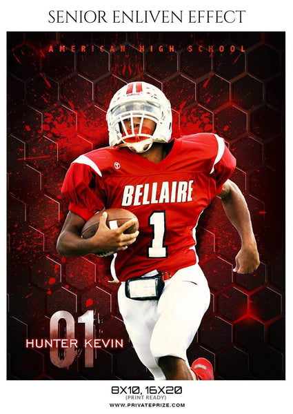 Hunter Kevin - Football Sports Enliven Effect Photography Template