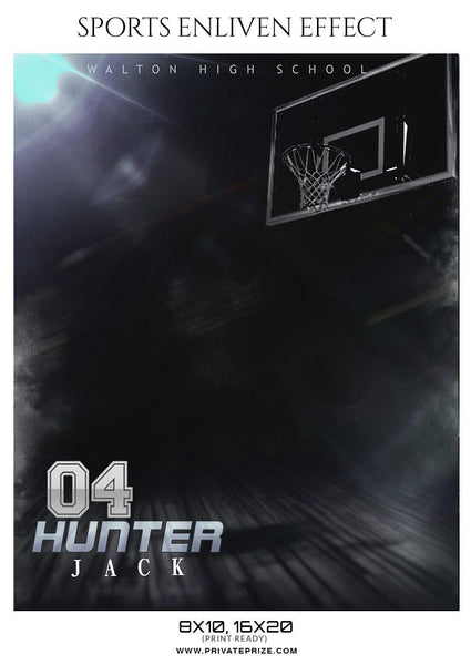 Hunter Jack - Basketball Sports Enliven Effect Photography Template