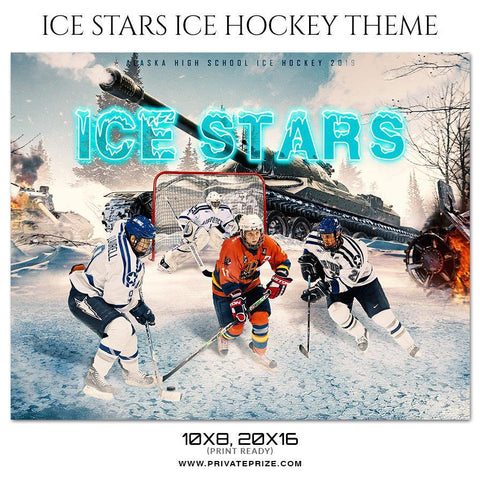 Ice Stars - Ice Hockey Themed Sports Photography Template