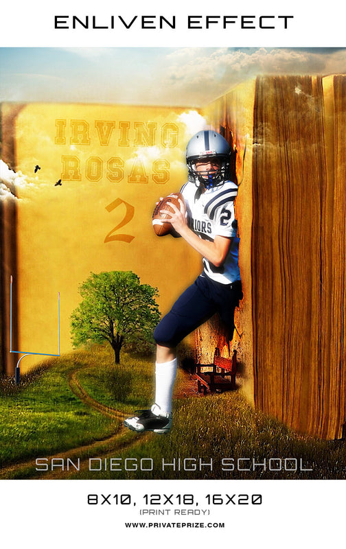 Irving Football San Diego High School Sports - Enliven Effects - Photography Photoshop Templates