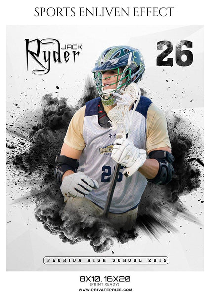Jack Ryder - lacrosse Sports Enliven Effect Photography Template