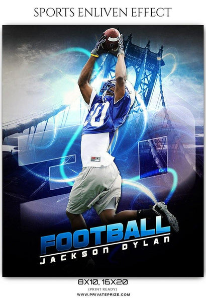 Jackson Dylan - Football Sports Enliven Effect Photography Template - Photography Photoshop Template
