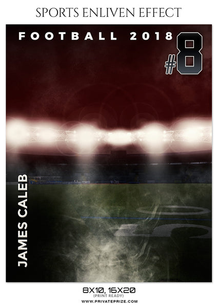 JAMES CALEB-FOOTBALL- SPORTS ENLIVEN EFFECT - Photography Photoshop Template