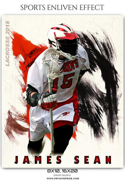 James Sean - Lacrosse Sports Enliven Effects Photography Template