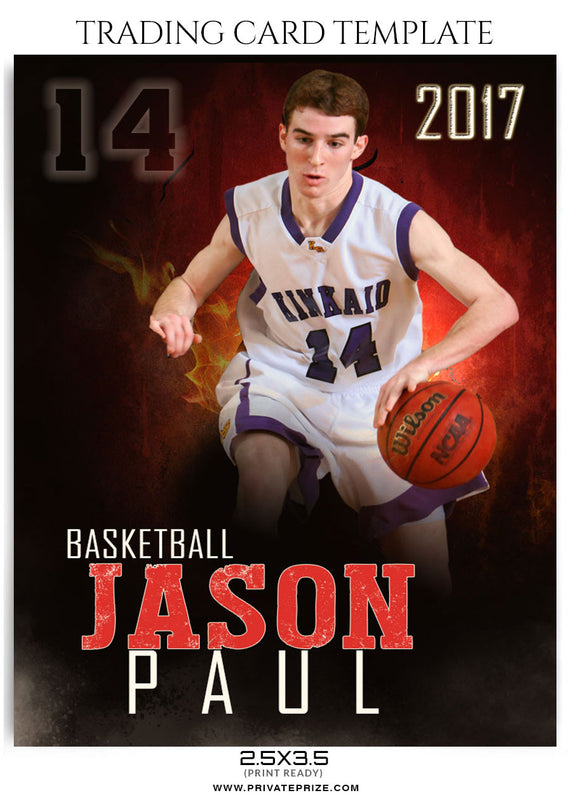 Jason Paul Sports Trading Card Template