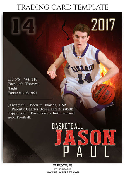 basketball card template