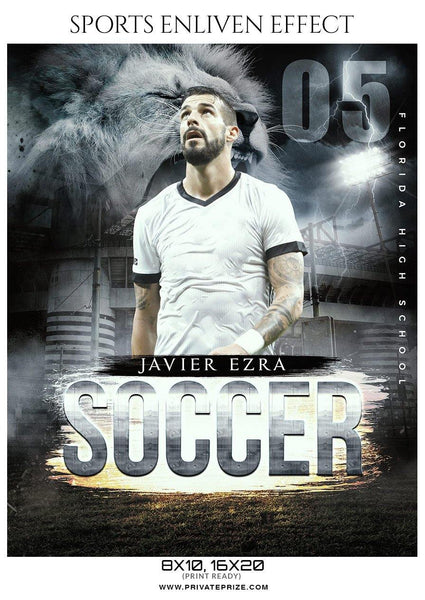 Javier Ezra - Soccer Sports Enliven Effects Photography Template