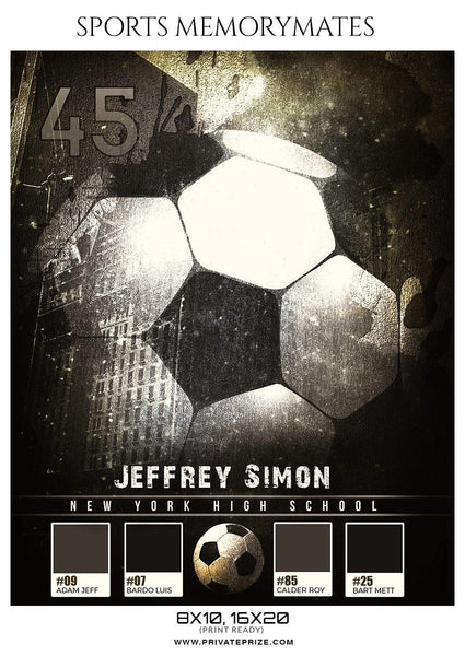 Jeffrey Simon - Soccer Sports Memory Mates Photography Template - Photography Photoshop Template