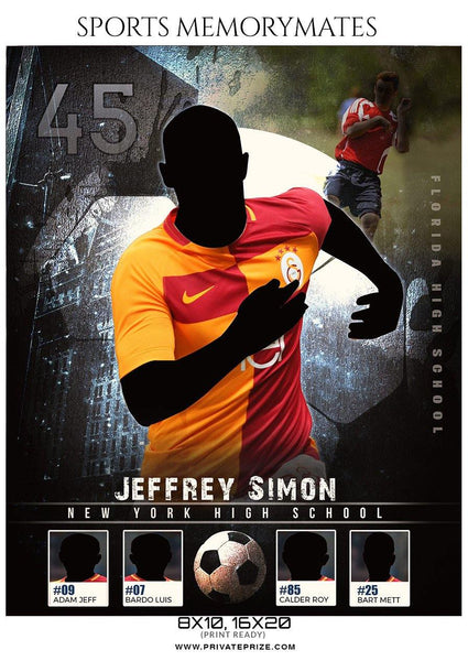 Jeffrey Simon - Soccer Sports Memory Mates Photography Template