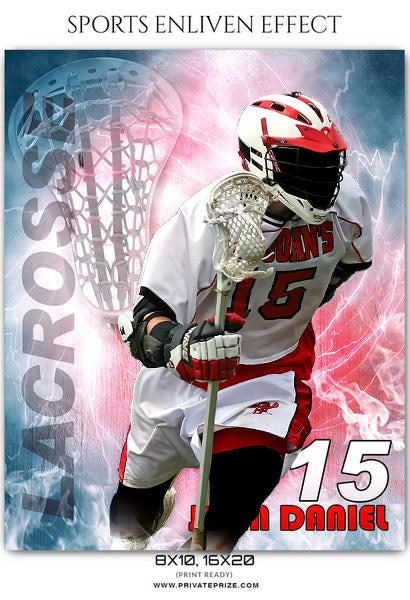 John Daniel - Lacrosse Sports Enliven Effects Photography Template
