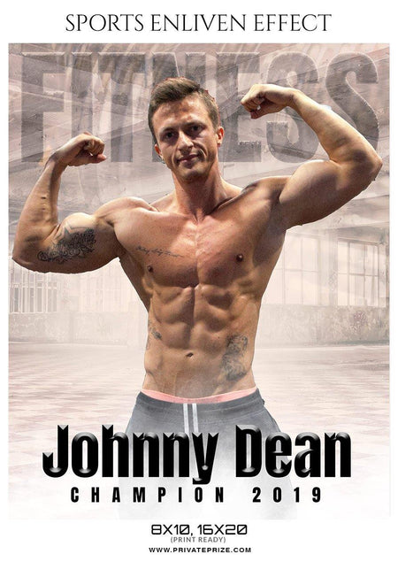 Johnny Dean - Fitness Enliven Effect Photography Template - Photography Photoshop Template