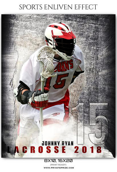 Johnny Ryan - Lacrosse Sports Enliven Effects Photography Template