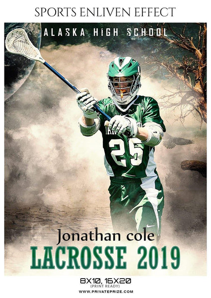 Jonathan Cole - Lacrosse Sports Enliven Effects Photography Template - Photography Photoshop Template